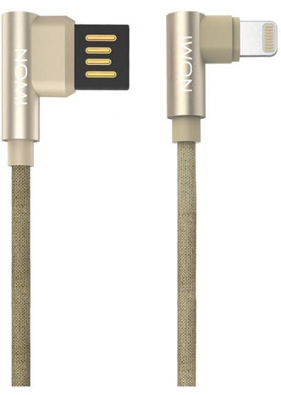 Фото - Кабель синхронизации данных Nomi DCPQ 10i USB-Lightning 1m Gold (344272)