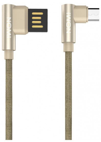 Фото - Кабель Nomi DCPQ 10m USB-MicroUSB 1m Gold (344269)