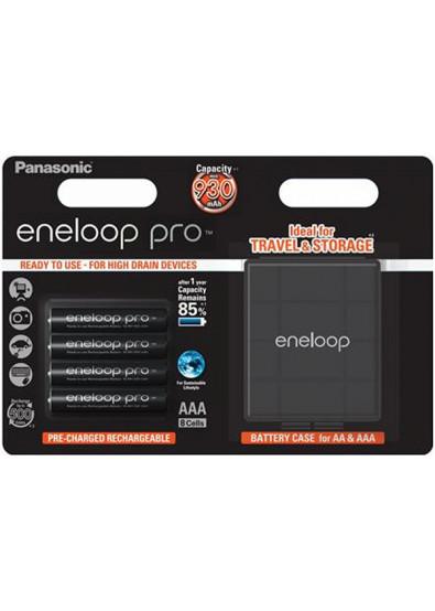 Фото - Аккумулятор тип AA Panasonic Eneloop Pro AAA 930 mAh 4BP+Case (BK-4HCDEC4BE)