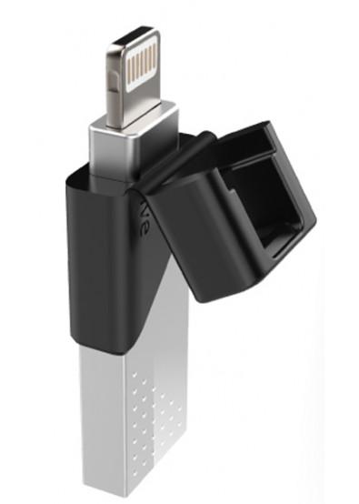 Фото - Флеш USB/Lightning Silicon Power Z50 64GB USB 3.1/Lightning Silver (SP064GBLU3Z50V1S)