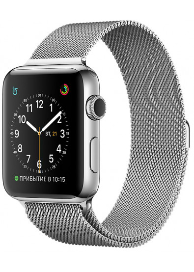 Фото - Смарт-часы Apple Watch Series 2  42mm Stainless Steel Case with Silver Milanese Loop  Model A1758 (ZKMNPU2FSA)