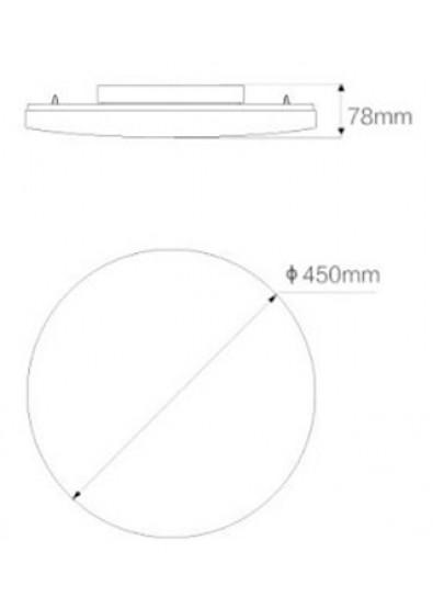 Фото - Светодиодный светильник Xiaomi Yeelight LED Ceiling Lamp 450mm White/Galaxy (XD0041W0CN)