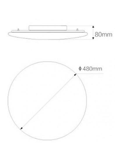 Фото - Светодиодный светильник Xiaomi Yeelight LED Сeiling Lamp 480mm White/Galaxy (XD0051W0CN)