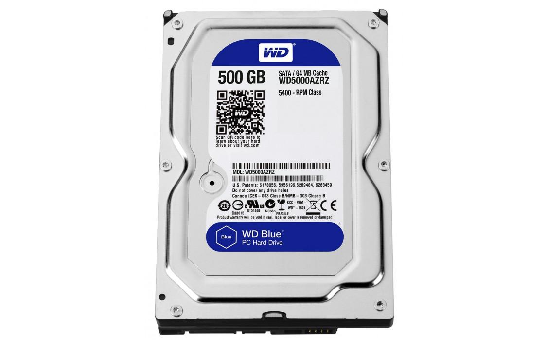 Фото - Жесткий диск внутренний WD SATA III 500GB 5400rpm 64MB Blue (WD5000AZRZ)