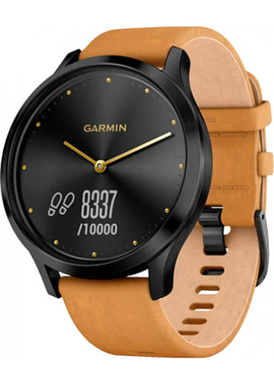 Фото - Смарт-годинник Garmin Vivomove HR Premium Black Tan Regular Black ( 010 ... acc023c7d836c