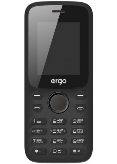 24e556c58f6e Купити Мобільний телефон Ergo F182 Point Dual Sim Black за низькою ...