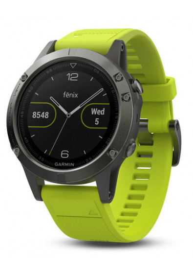 Фото - Смарт-годинник Garmin Fenix 5 Slate Gray with Yellow Band (010- ... 02cbb827793cf